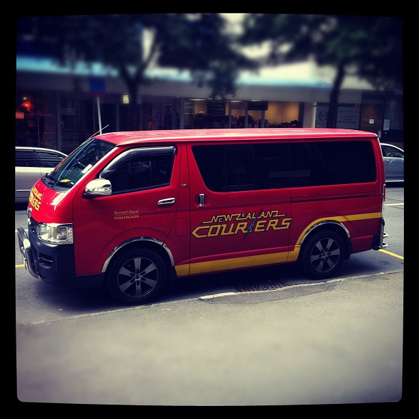 Instagram Photo of a courier car in Wellington
