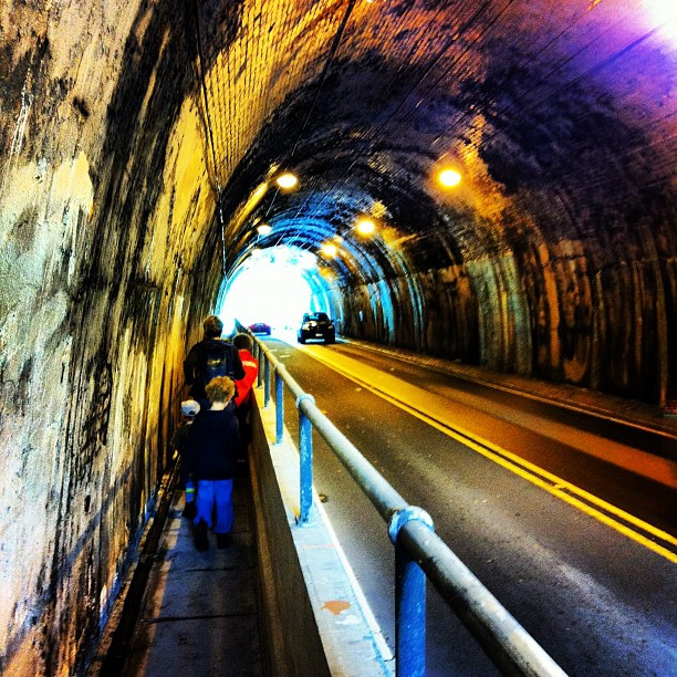 Instagram Photo of the Karori tunnel