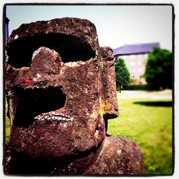 Instagram Photo of a Rapa Nui statue